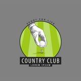 Logo per i concorsi di golf Fotografia Stock