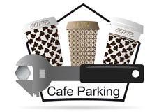 Logo per il caffè Fotografia Stock