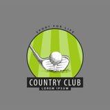 Logo per il club di golf Immagini Stock