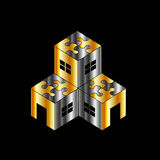 Logo per il mercato immobiliare Fotografia Stock