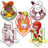 Logo per il torneo minore di baseball Immagine Stock