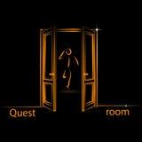 Logo per la stanza di ricerca Immagine Stock