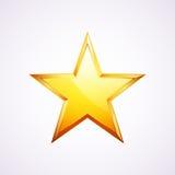 Logo per la vostra progettazione, illustrazione della stella d'oro di vettore Fotografia Stock Libera da Diritti
