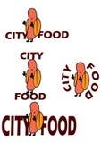 Logo per le catene degli alimenti a rapida preparazione Fotografia Stock