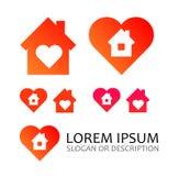 Logo per società immobiliare Fotografia Stock