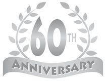 Sessantesima insegna di anniversario Immagini Stock Libere da Diritti
