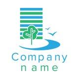 Logo per una società di costruzioni Fotografie Stock