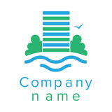 Logo per una società di costruzioni Immagine Stock