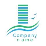 Logo per una società di costruzioni Fotografia Stock
