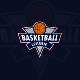 Logo per una squadra di pallacanestro o una lega immagini stock libere da diritti