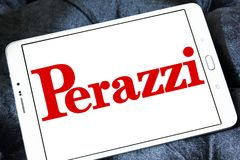 Perazzi shotguns company logo. Logo of Perazzi shotguns company on samsung tablet. Perazzi is a manufacturer of precision shotguns from Brescia, Italy Royalty Free Stock Photography