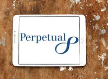 Perpetual Limited logo. Logo of Perpetual Limited on samsung tablet. Perpetual is an Australian investment and trustee group; providing investment products stock photo