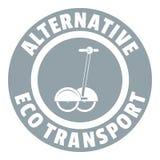 Logo personnel de scooter de compas gyroscopique, style gris simple illustration de vecteur