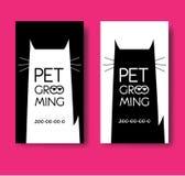 Logo for pet hair salon. Pet grooming salon. Vector cat silhouet Royalty Free Stock Image