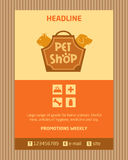 Logo for pet shop. Brochure, Flyer design vector stock illustration