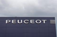 Logo Peugeot fabryka zdjęcia royalty free