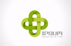 Logo Pharmacy Green-kruis. Medicin van de het ziekenhuiskliniek Royalty-vrije Stock Afbeeldingen