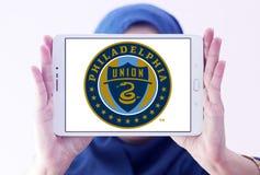 Philadelphia Union Soccer Club logo. Logo of Philadelphia Union Soccer Club on samsung tablet holded by arab muslim woman. The Philadelphia Union is an American Royalty Free Stock Photos
