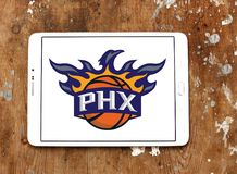 Phoenix Suns American basketball team logo. Logo of Phoenix Suns team on samsung tablet. The Phoenix Suns are an American professional basketball team Stock Images