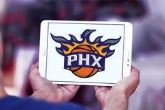 Phoenix Suns American basketball team logo. Logo of Phoenix Suns team on samsung tablet. The Phoenix Suns are an American professional basketball team Stock Photo