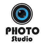 Logo photo studio design Stock Photography