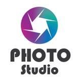 Logo photo studio design Royalty Free Stock Image