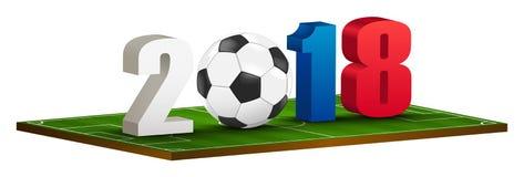 2018 logo piłka nożna Zdjęcie Stock