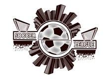 Logo piłki nożnej liga ilustracja wektor
