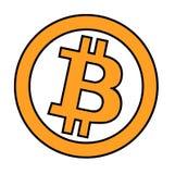 Logo piano del blockchain cripto di valuta di Bitcoin un fondo triangolare colorato Logo dell'autoadesivo del bitcoin della caten Immagine Stock Libera da Diritti