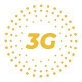 Logo piano di vettore 3g con i punti geometrici astratti royalty illustrazione gratis