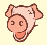 Logo of a pig. Stock Photo