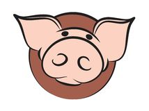 Logo of a pig. Stock Photography