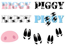 Logo for pig related companies Stock Photography