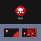 Logo Pirate, business card for real pirate. Skull Royalty Free Stock Photo