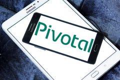 Pivotal Software company logo. Logo of Pivotal Software company on samsung mobile. Pivotal is a software and services company Stock Photo