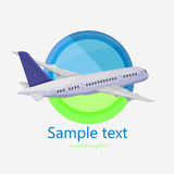 Logo plane Royalty Free Stock Images