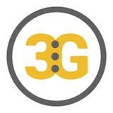 Logo plat du vecteur 3g avec des points de force du signal illustration stock
