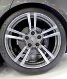 Logo of  Porsche on wheels Stock Photo