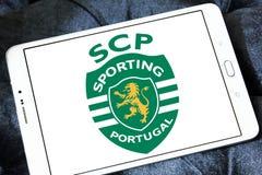 Sporting Lisbon football club logo. Logo of Portuguese Sporting Lisbon football club on samsung tablet Stock Photo