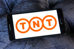 Logo postal de compagnie maritime de Tnt Photo stock