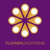 Logo Poster floral Images libres de droits