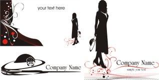 Logo pour des cartes de visite professionnelle de visite. Type de mode Photographie stock libre de droits