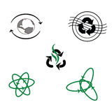 Logo pour des produits recyclés Photographie stock