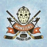 Logo pour l'équipe de hockey Photo libre de droits