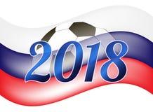 Logo pour le football de coupe du monde en Russie Photographie stock