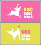 Logo pour le salon de coiffure de chien Toilettage d'animal familier Photographie stock