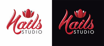 Logo pour le studio de clous illustration stock