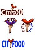 Logo pour les chaînes d'aliments de préparation rapide Image libre de droits