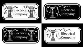 Logo pour les sociétés électriques illustration de vecteur