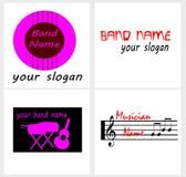 Logo pour une bande de musique ou un musicien illustration stock
